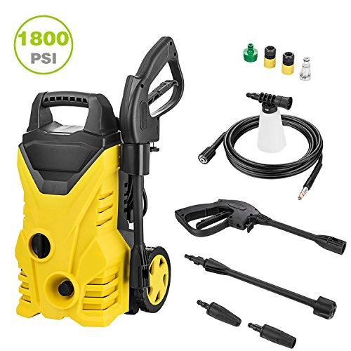 1800PSI Electric High Pressure Washer 1.3GPM Pressure Washer Sprayer Cleaner Machine