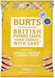 Burts Hand Cooked Cheddar and Onion Potato Chips, 150 g