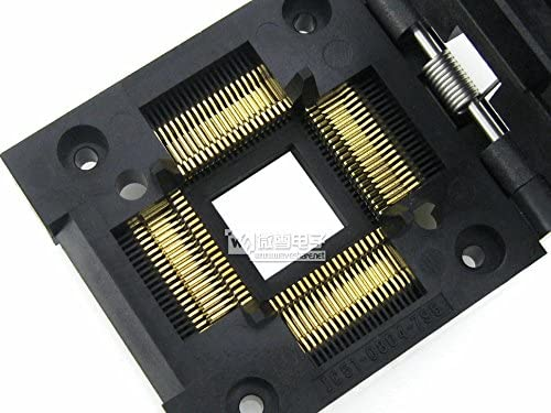 0.65 mm for QFP80//TQFP80//FQFP80//PQFP80 package Pitch pzsmocn Test/&Burn-in Socket IC51-0804-795 Yamaichi IC Test /& Burn-in Socket
