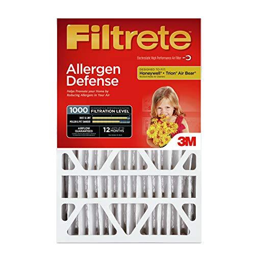 Filtrete 16x25x4, AC Furnace Air Filter, MPR 1000 DP, Micro Allergen Defense Deep Pleat, 4-Pack