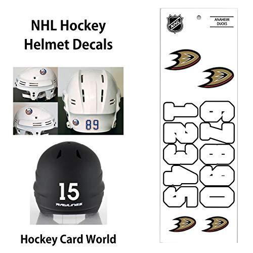 Anaheim Ducks (WHITE) NHL Hockey Helmet Decals Sticker Sheet
