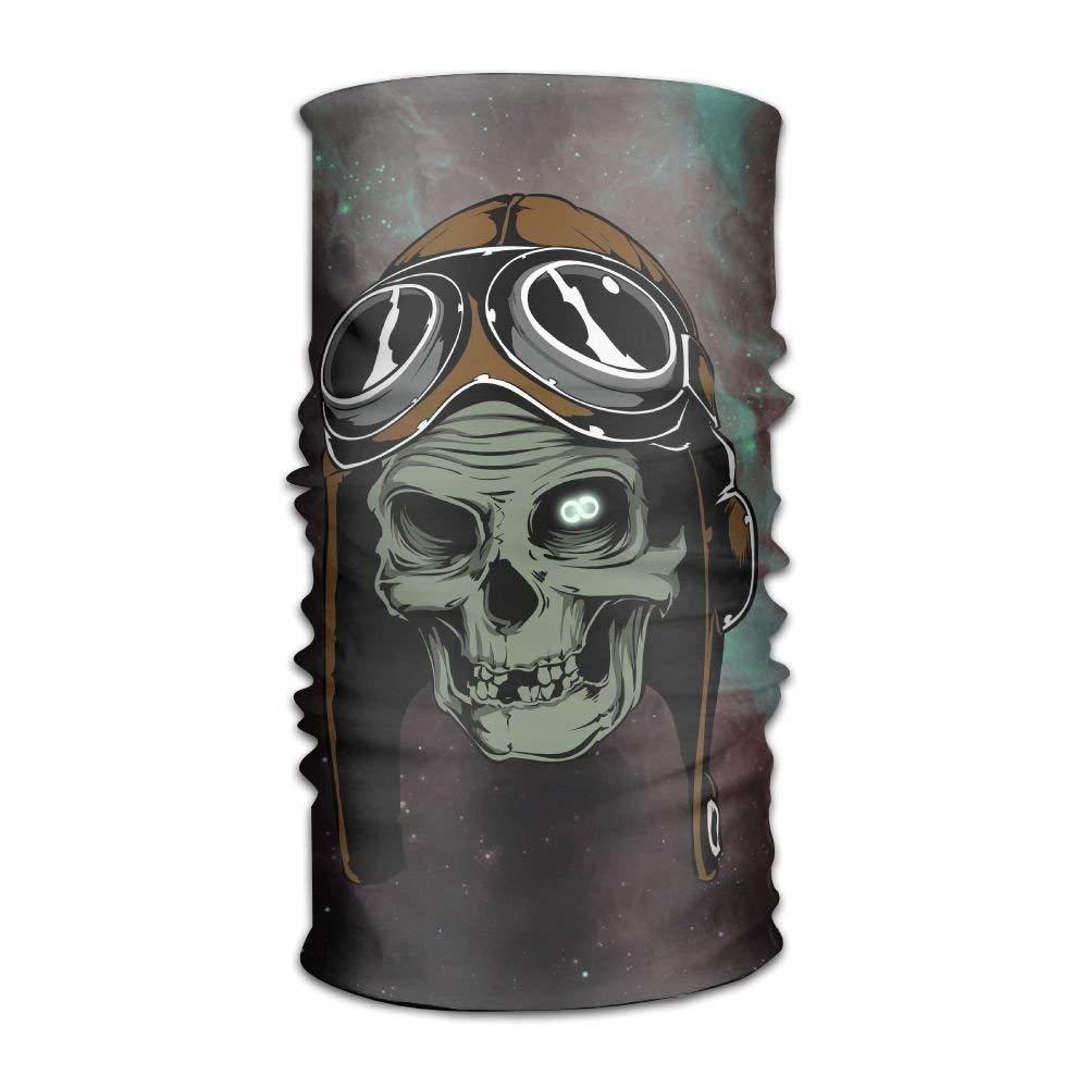 枕カバー Galaxy Skull マジックヘッドバンド ゴムシームレスフェイスマスク バンダナ ネックバラクラバ アウトドアスポーツヘッドウェア スカーフ バラクラバ ヘルメットライナー ATV/UTVライディング UV耐性  1色 B07GSTD4FJ