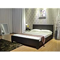 Greatime Platform Bed, Queen, Dark Brown