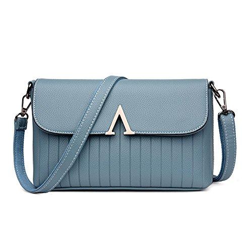 à Top Cuir Souple Femme Handle Sacs En à Blue Pour Vintage Bandoulière Sacs Main Rétro w1Wq8RfU
