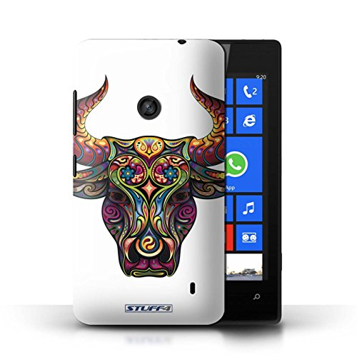 Etui / Coque pour Nokia Lumia 520 / Taureau conception / Collection de Animaux décoratifs