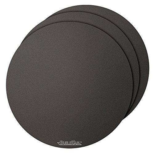 BuildTak 3D Printing Build Surface, 12'' Diameter Round, Black (Pack of 3) by BuildTak