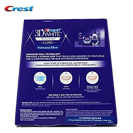 Amazon.com: NO BOXES 10 Pouches (20stripes) Crest 3D White LUXE Professional Effect oral hygiene tooth teeth whitening Whitestrips dental: Health & Personal ...