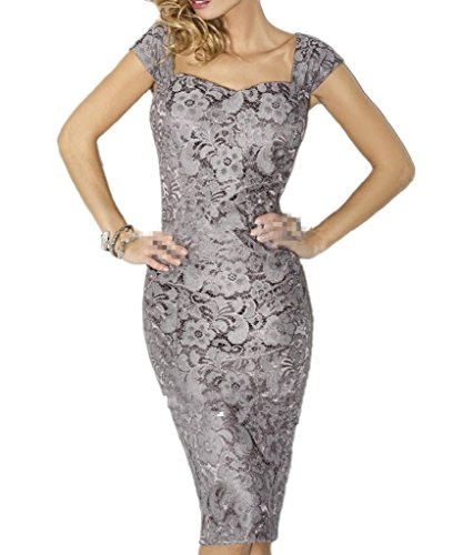 7f7d1b67231 ... Women s Sexy Lace Mother of the bride Evening Dress Size2 Silver.   