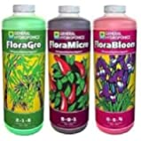 General Hydroponics Flora Series FloraGro FloraBloom FloraMicro 1 Litre 1 Quart