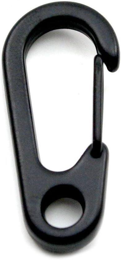 Naisicatar 3 piezas Mini mosquetón de resorte llavero Clip gancho de cierre de hebilla de escalada de senderismo