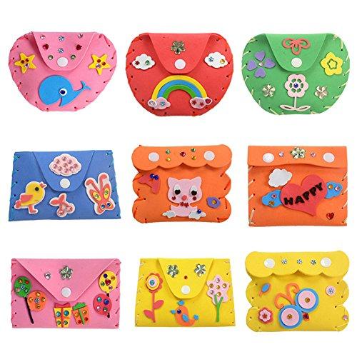 Brightric DIY 3D EVA Foam Sticker Cartoon Wallet Purse Kids Child Craft Toy Kits ()