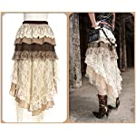 Steampunk Victorian Gothic Sexy Prom Dresses Homecoming Dresses Wedding Dresses Beige 8
