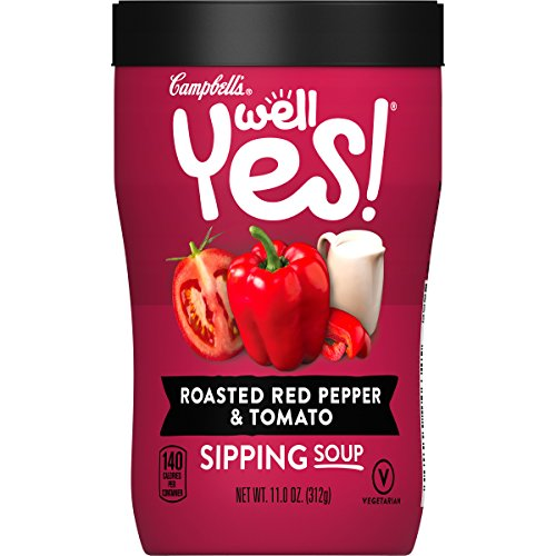 Campbell's Well Yes! Sipping Soup, Roasted Red Pepper & Tomato, 11.1 oz. Cup ()