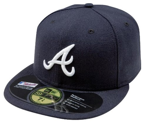 New Era Men Authentic On-Field Cap, Atlanta Braves, 6 7/8