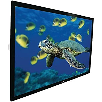 Elite Screens ezFrame Series, 84-inch Diagonal 4:3, Fixed Frame Home Theater Projection Projector Screen, Model: R84WV1