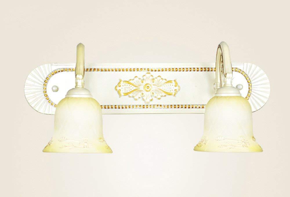 JZX Spiegel Scheinwerfer-American Retro Style Legierung LampenKörper Glas Lampenschirm E14  2 Spiegel Frontleuchte Bad Wandleuchte