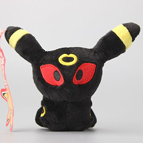 Pokemon Umbreon Soft Plush Figure Toy Anime Stuffed Animal 5 Inch Child Gift Doll (Evee Toys Pokemon Plush)