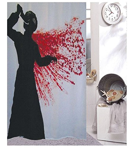 Psycho Shower Curtain 180 X 200 Cm Includes 12 Rings
