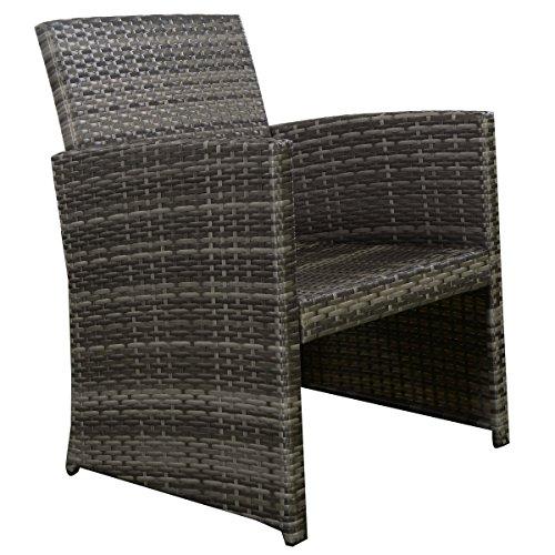 Goplus 4 PC Rattan Patio Furniture Set Garden Lawn Sofa Cushioned Seat Wicker Sofa (Mix Gray) by Goplus (Image #1)