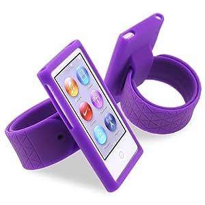 eForCity Silicone Watchband Case for Apple iPod nano 7G, Purple