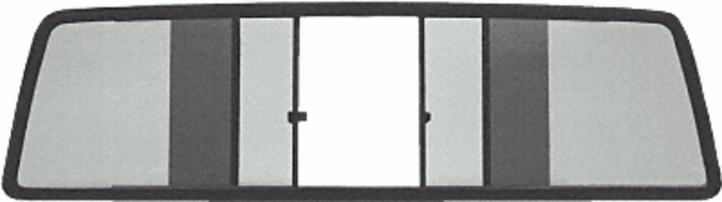 C.R. LAURENCE EDV700S CRL Duo-Vent Four Panel Slider with Solar Glass for 1986-1992 Jeep Comanche