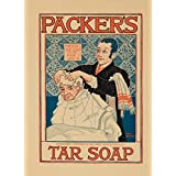 Packer's Tar Soap Vintage Poster (artist: Rhead) USA c. 1897 (12x18 Art Print, Wall Decor Travel Poster)