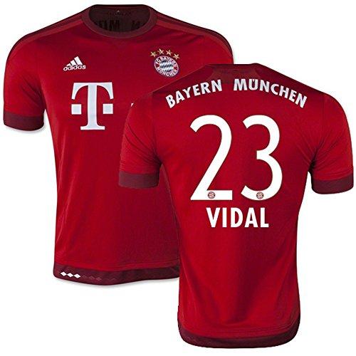 拍車きらめき資料Adidas VIDAL #23 Bayern Munich Home Jersey 2015-16(Authentic name & number)/サッカーユニフォーム FCバイエルンミュンヘン ホーム用 ビダル