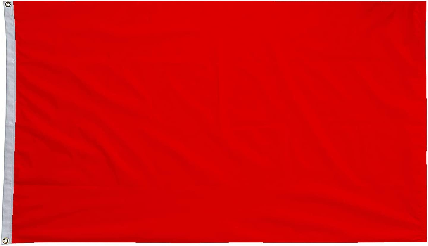 hxflag 3x5 Foot Solid Red Flag - Plain Red Flags