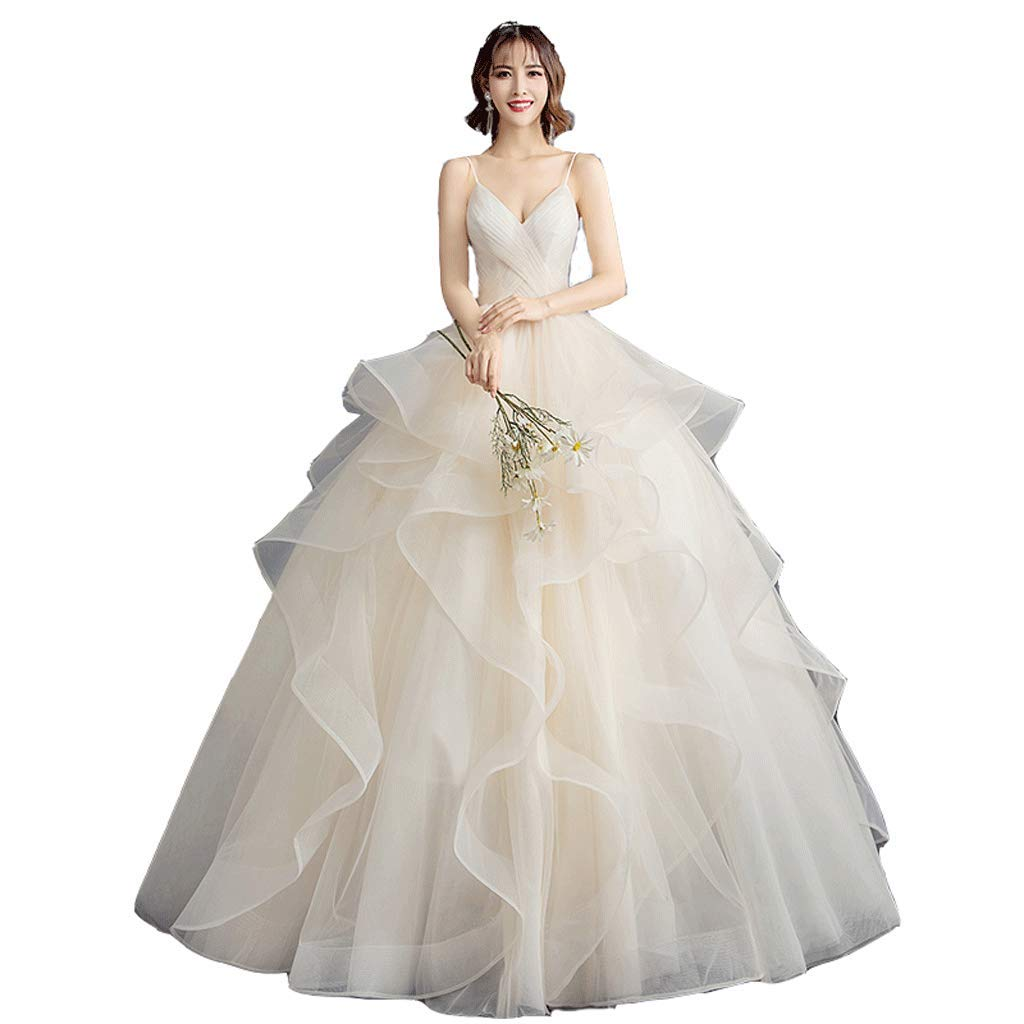 Forest Wedding Dress VNeck Wedding Dress High Waist Wedding Dress Pregnant Woman Wedding Dress (Size   XXL)