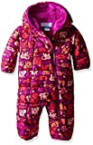 Columbia Baby Girls' Frosty Freeze Bunting, Bright Plum Critter, 3-6 Months
