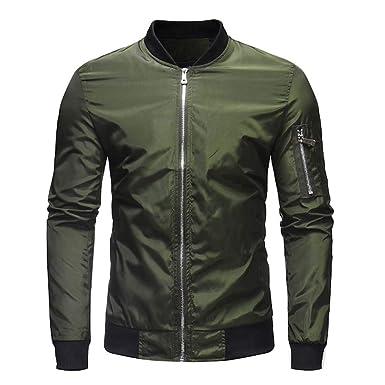 29790dc54323 CICIYONER Männer Outwear, Herren Herbst Winter Beiläufig Solide Reißverschluss  Jacke Mantel Oben Bluse Outwear