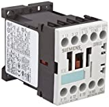 Siemens 3RT10 15-1AV61 Motor Contactor 3 Poles Screw Terminals S00 Frame Size 1 NO Auxiliary Contact 480V at 60Hz AC Coil Voltage
