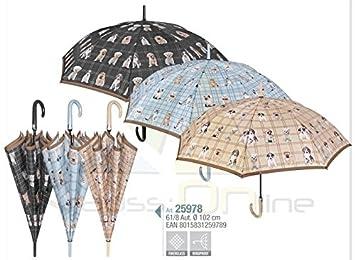 PERLETTI 25978 Lady 61/8 Aut - Paraguas Resistente al Viento para Perros y Gatos