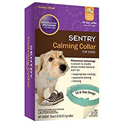 Sentry Calming Collar for Dogs, 0.75 oz, 3 Pack