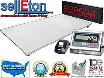 Amazon Com Selleton 48 Quot X 96 Quot Floor Scale With Printer