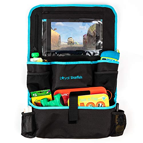 Best Review Of Car Back Seat Organizer with 9 Spacious Insulated Pockets - X-Large Touch Screen iPad...