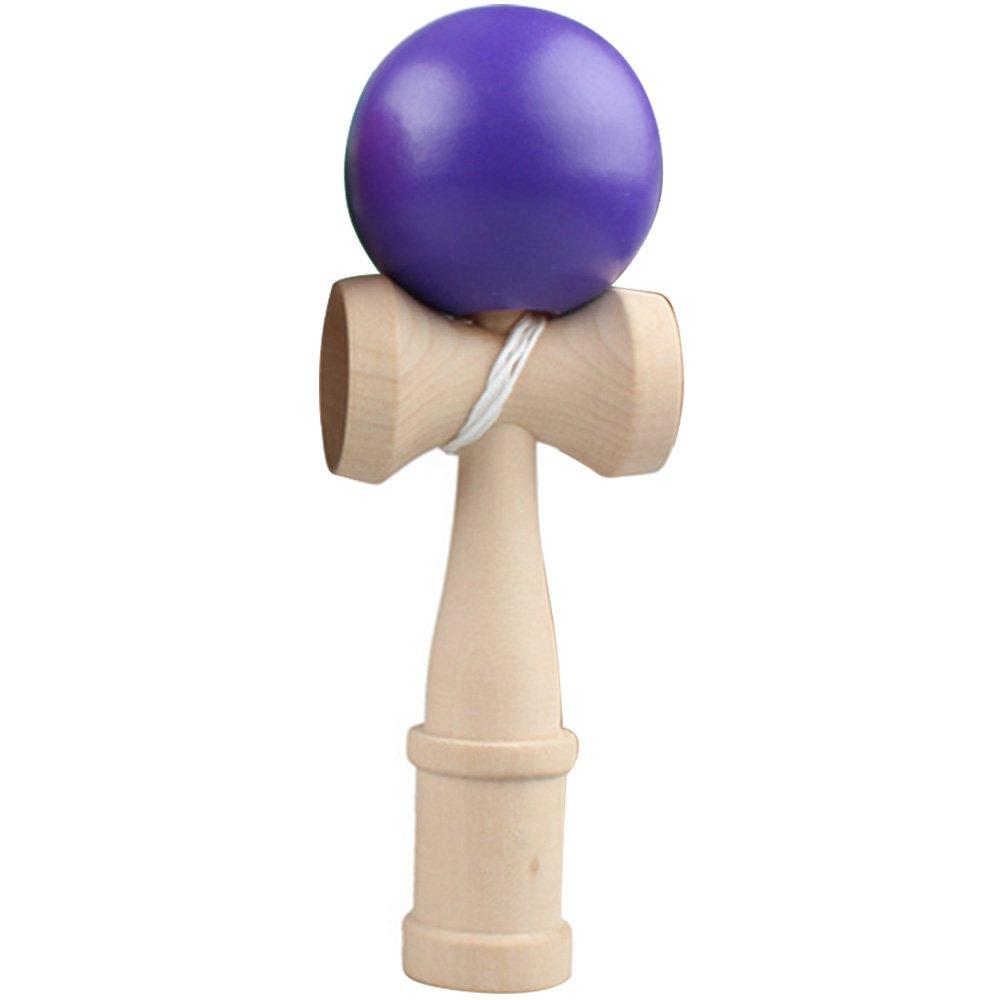 Beetest-EU-Kids Adults Japanese Traditional Wooden Skill Ball Kendama Catch Game Ball Toy Purple