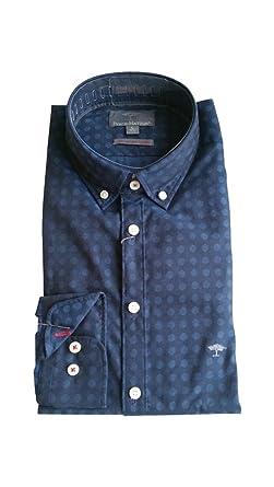 FYNCH-HATTON Herren Freizeit Hemd mit Print 1217-7015-7017 blau (Navy 075c9eb9db