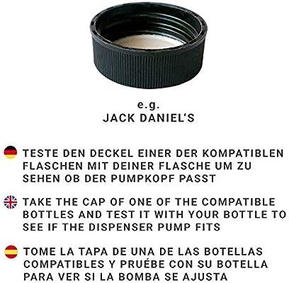 Pumpkopf /'Budapest/' Pumpe für Upcycling Seifenspender aus Flaschen Silber Chrom