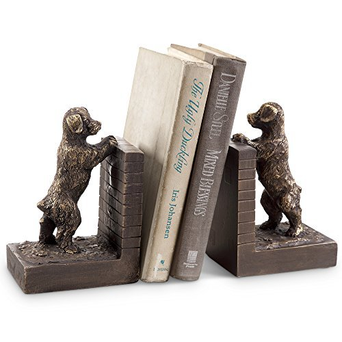 SPI Home Perky Peeking Puppy Bookends ()