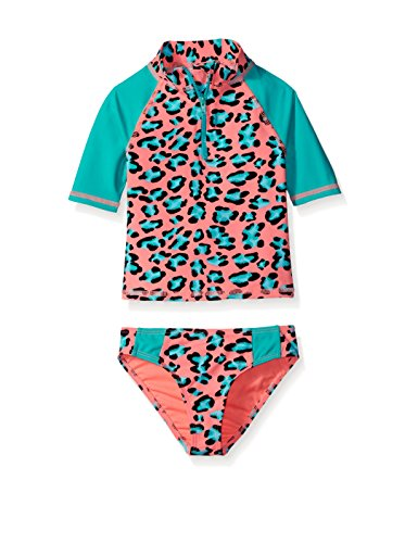 Price comparison product image Betsey Johnson 2-Piece Leopard Rashgaurd Swim Set (3T)