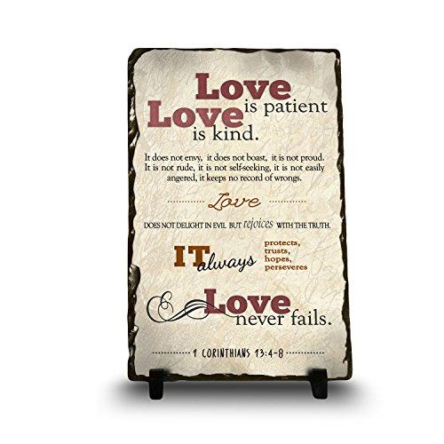 Love is Patient, Love is Kind. It Does Not Envy 1 Corinthians 13:4-8 | Religious Inspirational Home Décor Christian Plaque