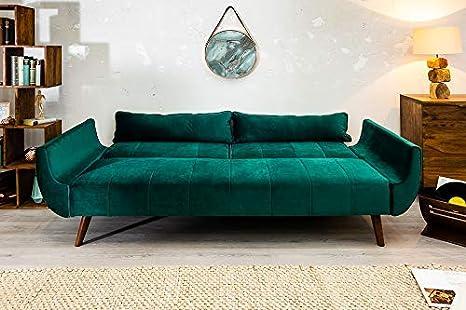 Riess Ambiente DIVANI - Sofá Cama de diseño Retro, 215 cm ...
