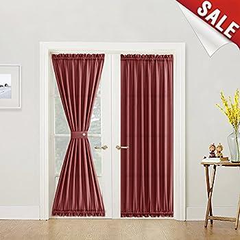 Amazon Com French Door Curtains Solid Sheer French Door