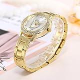 Nmch Wrist Watch,Women Fashion Stainless Love Steel Band Analog Quartz Round Watches