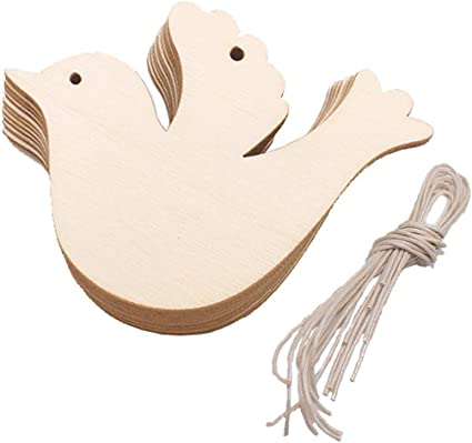 Blank Wood Craft Embellishments Wood Baby Rattle Cutout Wooden Baby Rattle Shape Baby Shower Decor