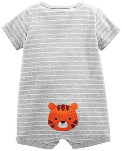 Simple Joys by Carter's Boys' 3-Pack Snap-up Rompers, Stripe, Whale, Tiger, 3-6 Months