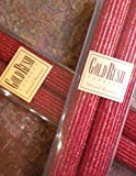 12 Inch Natural Beeswax Glitter Candles, Ruby Red Color, Boxed Set of 2