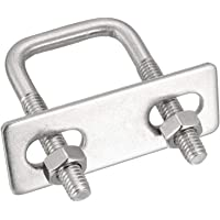 40-52 mm ID backing Platte f/ür M6 u-Bolzen Geschlitzt verzinkt Mild Steel Packungsgr/ö/ße: 1