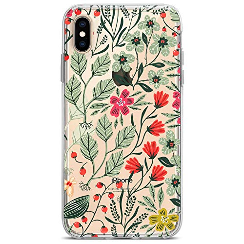 Lex Altern iPhone Apple TPU Cases Xs Max Xr 10 X 8 Plus 7 6s 6 SE 5s 5 Wild Flowers Clear Greenery Phone Cute Plants Floral Cover Print Leaves Women Pattern Girl Protective Design Flexible Silicone